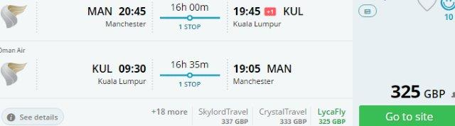 Oman Air promo sale: Manchester to Malaysia, Thailand, Philippines, Sri Lanka or Nepal £325 and up..