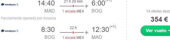 Fly to Colombia from Madrid already for €354 or Amsterdam €423!