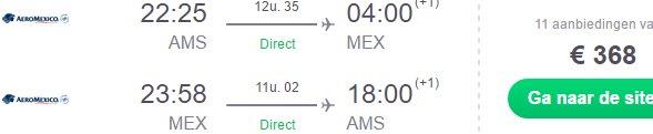 AeroMexico promotion: Non-stop from Amsterdam to Mexico City €368!