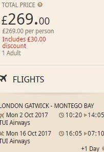 Cheap return flights from UK to Jamaica in Caribbean from £269!