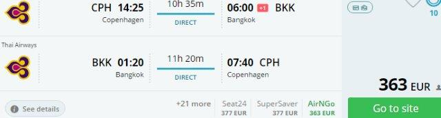 Thai Airways promotion: Non-stop to Bangkok from Scandinavia €363, Germany €454!