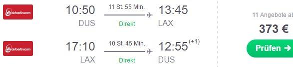Air Berlin cheap non-stop flights from Dusseldorf to Los Angeles €373!