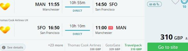 Thomas Cook: Non-stop from Manchester to San Francisco from £310!