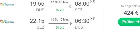 Non-stop flights from Dusseldorf to Seychelles €424! (+ Multi-city solution to both Mahe and Praslin for €487)
