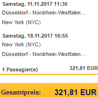 Lufthansa non-stop flights from Dusseldorf to New York from €322!