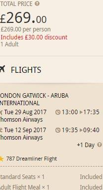 Cheap non-stop flights from the UK to Aruba in Caribbean from £269!