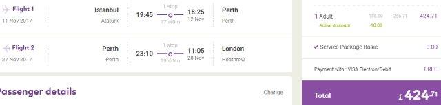 Open-jaw flights to Australia from €483 or £425!