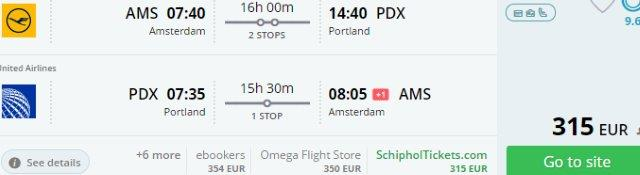 Cheap return flights from Benelux to USA (Houston, Dallas, Phoenix, Denver, Portland, Casper) from €315!