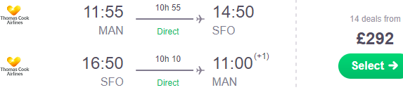 Thomas Cook: Non-stop from Manchester to San Francisco from £292!