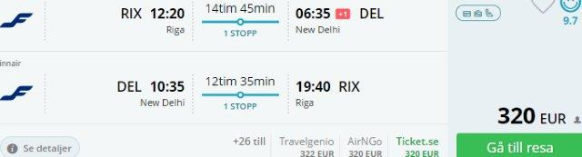 Finnair: Return tickets from Europe to New Delhi from €320!