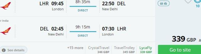 Air India: Non-stop flights from Europe to New Delhi from £339 or €388!