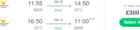 Thomas Cook: Non-stop from Manchester to San Francisco from £300!