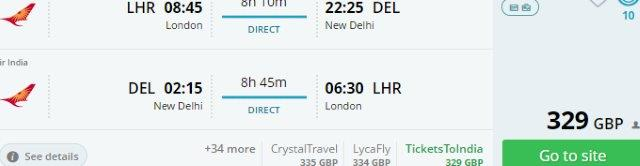 Air India: Non-stop flights from Europe to New Delhi from £329 or €371!