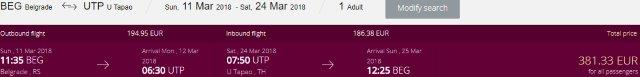 Qatar Airways return flights from Europe to Pattaya, Thailand from €381!