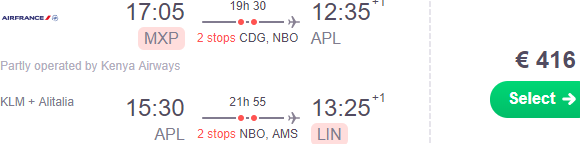 Return flights from Europe to Nampula, Northern Mozambique from €416!