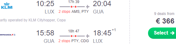 Return flights from Luxembourg to Guatemala City from €366!