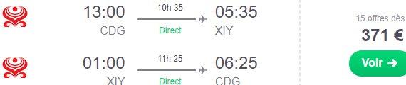 Direct flights from Paris to China (Xi´An) from €371!