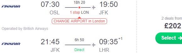Cheap open jaw flights to New York (return to London) from £202!