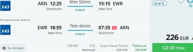 Fly (non-stop) from Scandinavia to North America from €226 incl. checked bag!