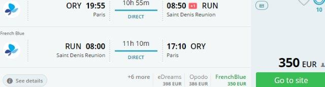 Low-cost non-stop flights from Paris to Réunion already for €350!