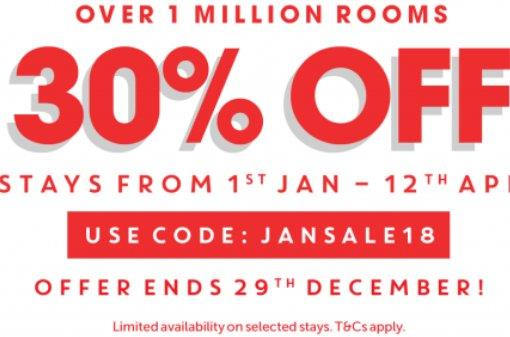 """Travelodge UK """"Biggest sale EVER"""" - up to 30% off with promo code!"""