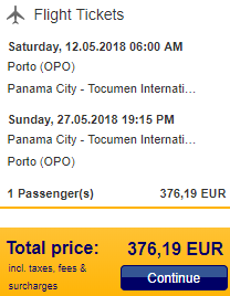 5* Lufthansa cheap flights from Portugal to Panama City for €376!