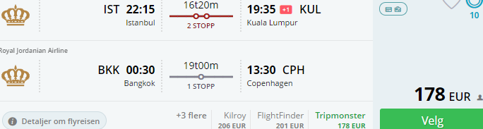 Christmas Holidays super cheap double open-jaw flighs to South East Asia from €178!
