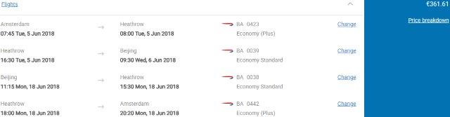 Cheap return and open-jaw flights from Amsterdam to China from €361!