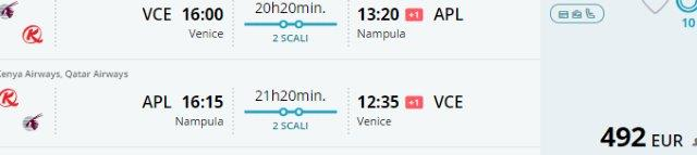 Return flights from (Ve)Nice or Scandinavia to Mozambique (Nampula, Vilankulos, Pemba, Beira, Tete) from €492!