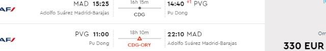 Cheap return flights from Madrid to Shanghai, China from €330!