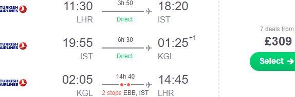 Cheap round trip solution from the UK to Kigali, Rwanda already for £309!