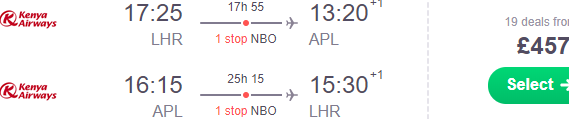 Return flights from London to Mozambique (Nampula, Maputo) from £436!