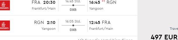 Emirates cheap flights in peak season Germany to Myanmar or Cambodia from €497!
