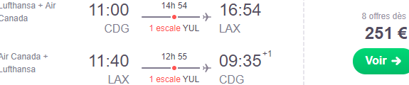 Star Alliance cheap flights from Paris to Los Angeles from €251 return!