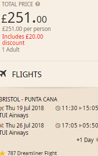 Cheap flights from Bristol to Punta Cana, Dominican Republic from £251!