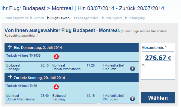 Cheap flights with Turkish Airlines to Montreal from €276!!