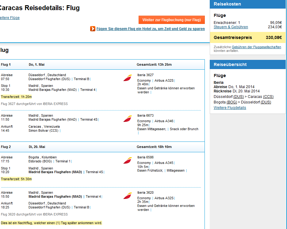 Error fare deal cheap open jaw flights Germany to Bogota Colombia Venezuela Caracas 330