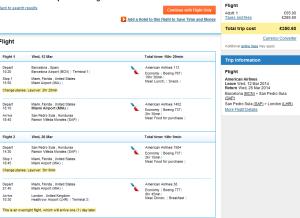 Tips for cheap open jaw flights Europe to Honduras return UK London 350