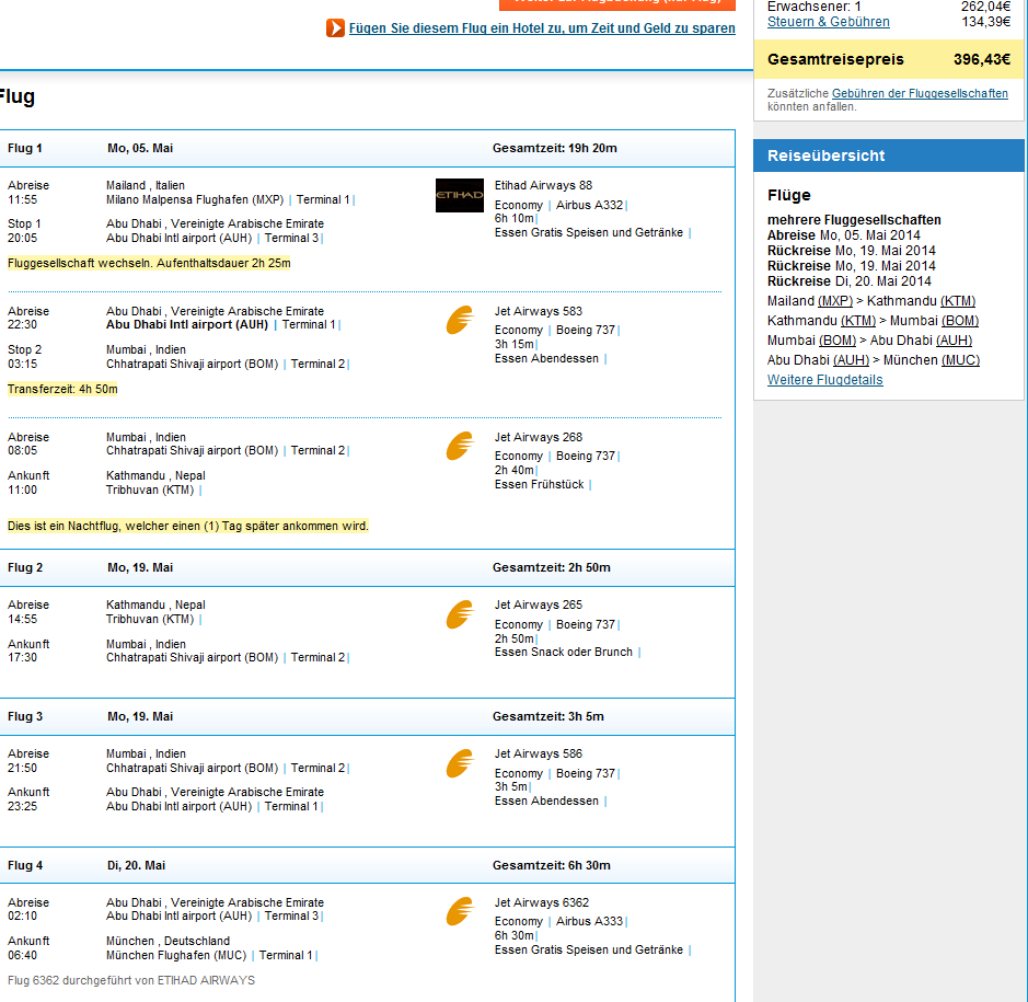 Cheap open jaw flights from Europe to Nepal from €391!!