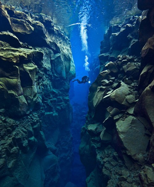 World's most amazing places you have probably never heard of The Silfra rift, Iceland