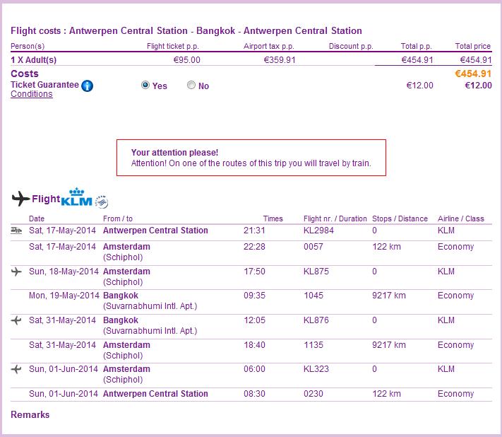 tips for cheap flights from Belgium to Bangkok Thailand 455