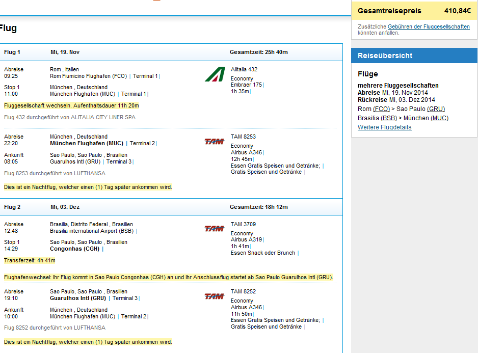 Open-jaw flights to Brazil from CPH and return to Munich from €411!