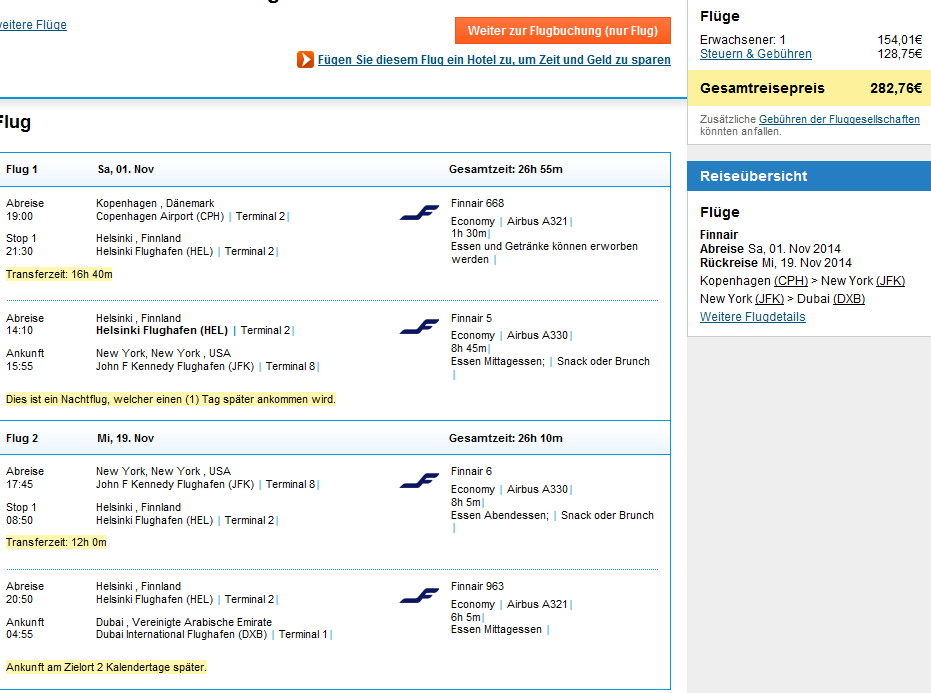 Open-jaw flights to New York, Toronto and Dubai at once from €283!!