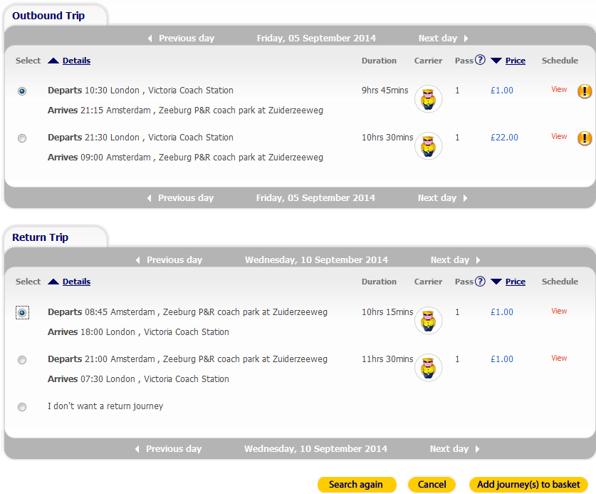 Megabus sale promotion summer 2014 - bus tickets from Ł1!