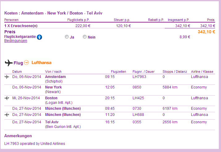 Cheap open-jaw flights to New York and Boston from €338!