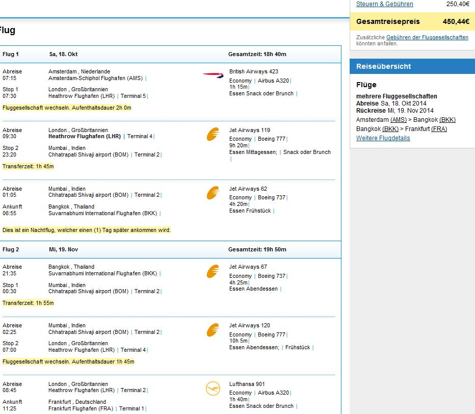 Cheap flights to Bangkok from €386 (main tourist season 2014/2015)!