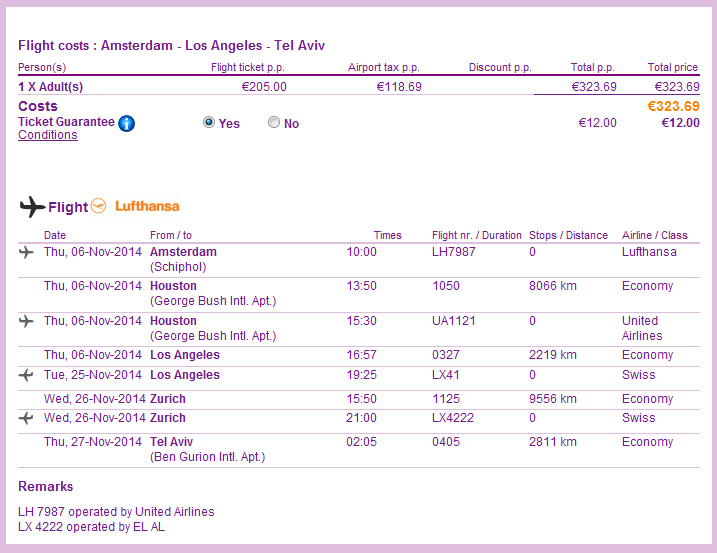Cheap open jaw flights from Europe to California from €323!!