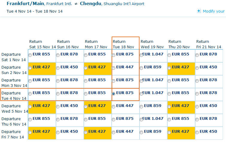 Cheap roundtrip flights to Chengdu, China from Germany for €427!