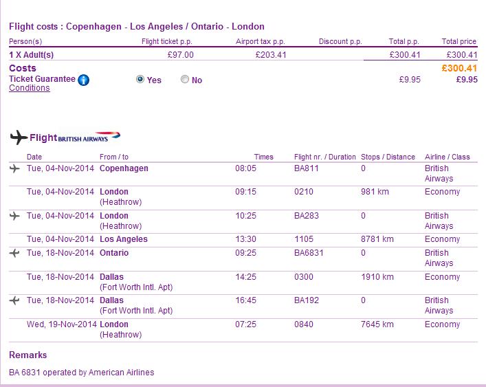 Tips for cheap open jaw flights Los Angeles California USA return London UK British Airways