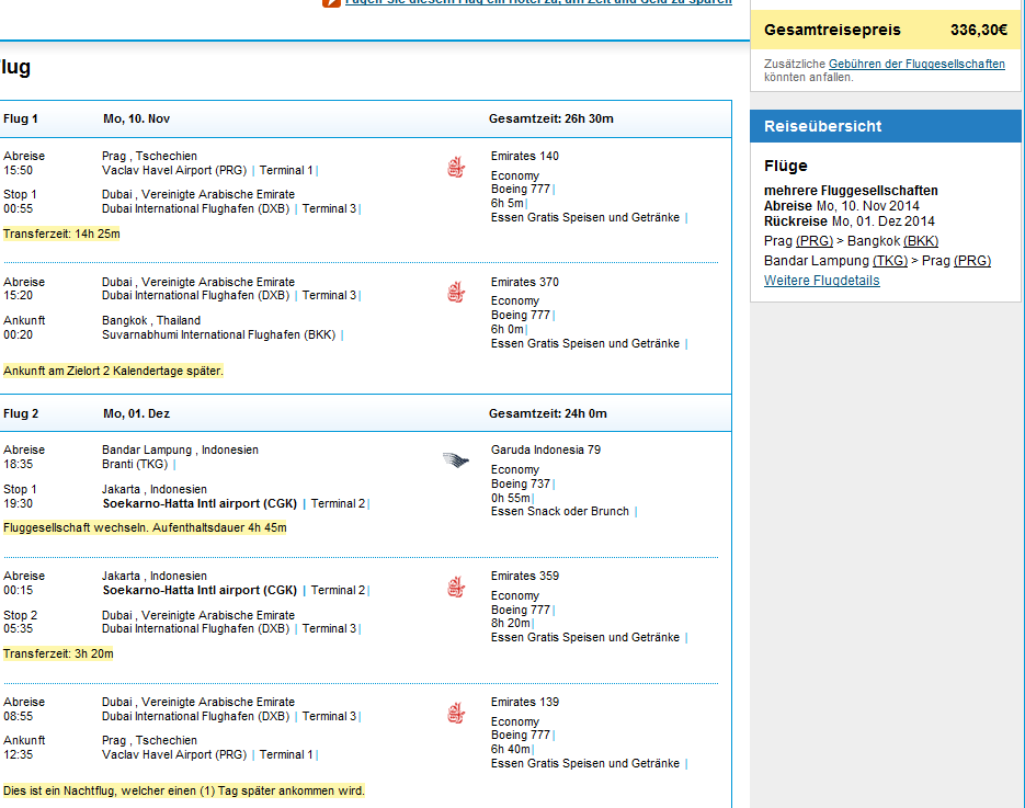 Cheap open-jaw flights to Indonesia with Emirates from €336!!